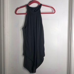 Robbed grey bodysuit